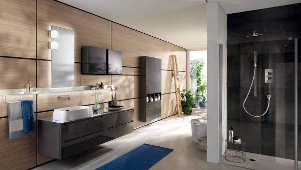 Bathroom Suites-idro (Brown) by Scavoni