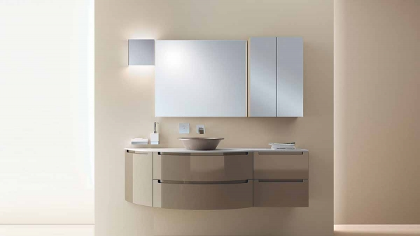 Idro Grey Living Space with sink