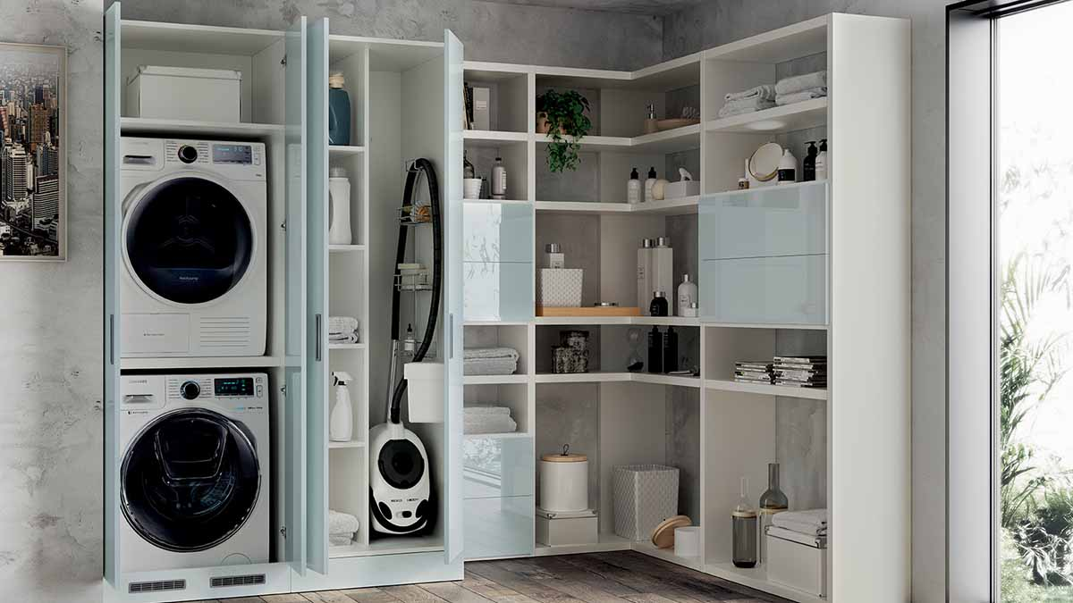 Living space Laundry storage