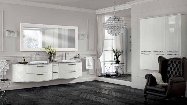 white & silver Bathroom Suite