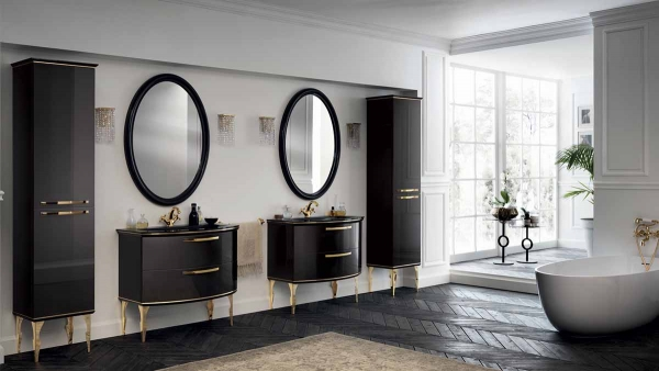 Black-Gold Bathroom Suite