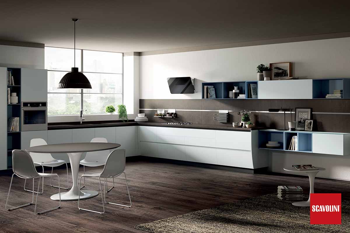 High Gloss Italian Fitted Kitchen-Flux-01