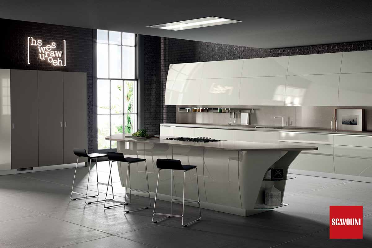 High Gloss Italian Fitted Kitchen-Flux-02
