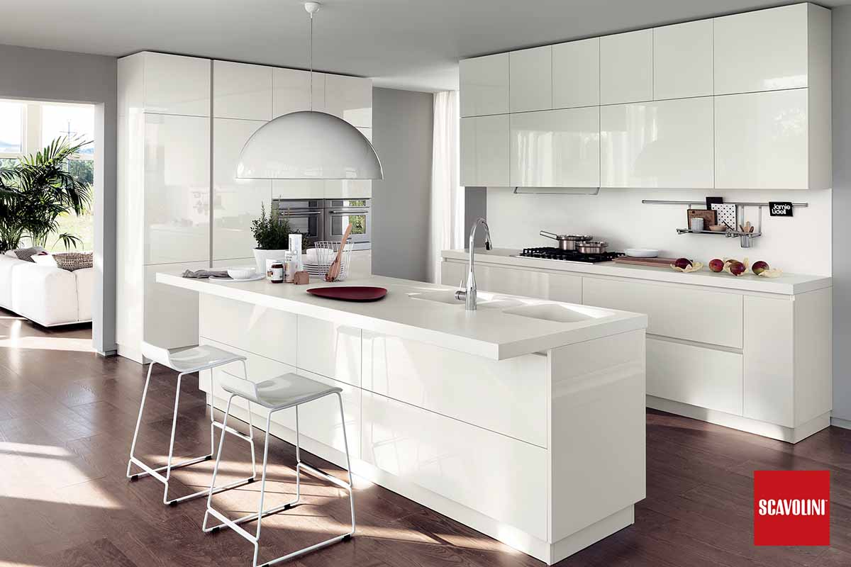 All White Italian Fitted Kitchen-Liberamente-04