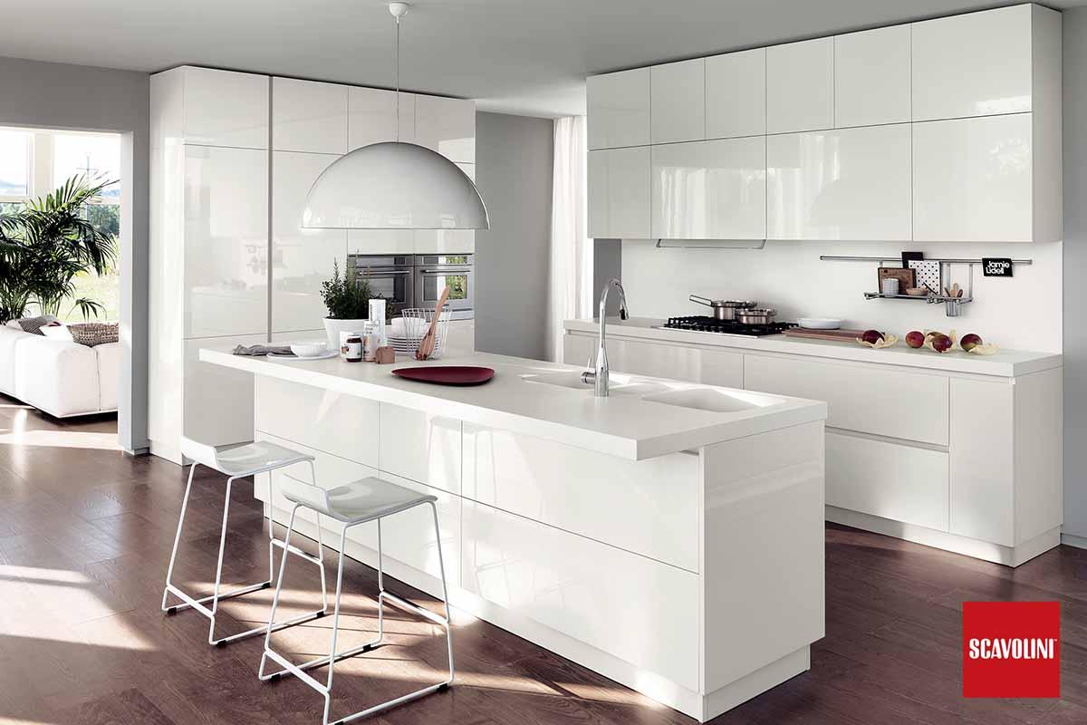 All White Italian Fitted Kitchen-Liberamente-04