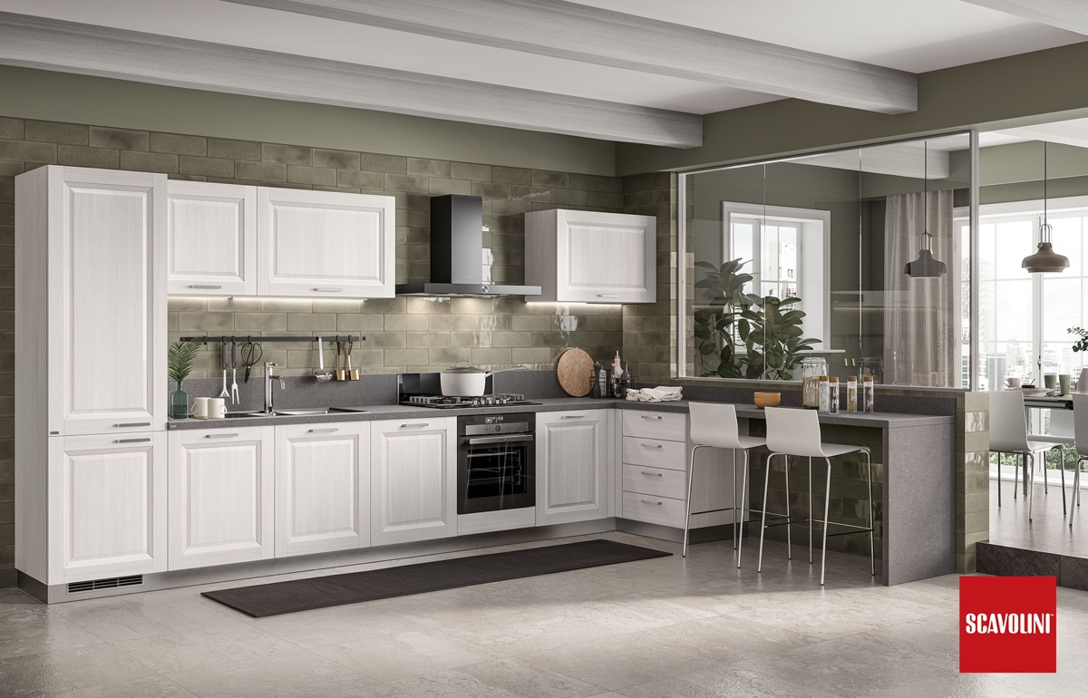 family fitted kitchen Scavolini-1